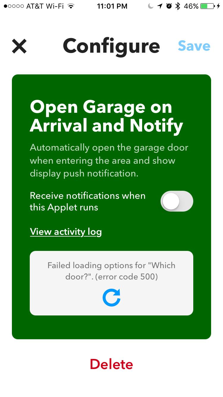 IFTTT failure with garadget item - Apps - Garadget Community
