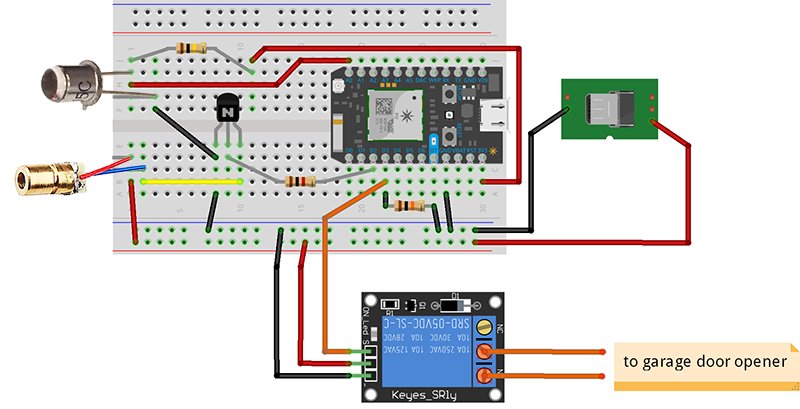 Instructions for home-grown Garadget clone - Hardware