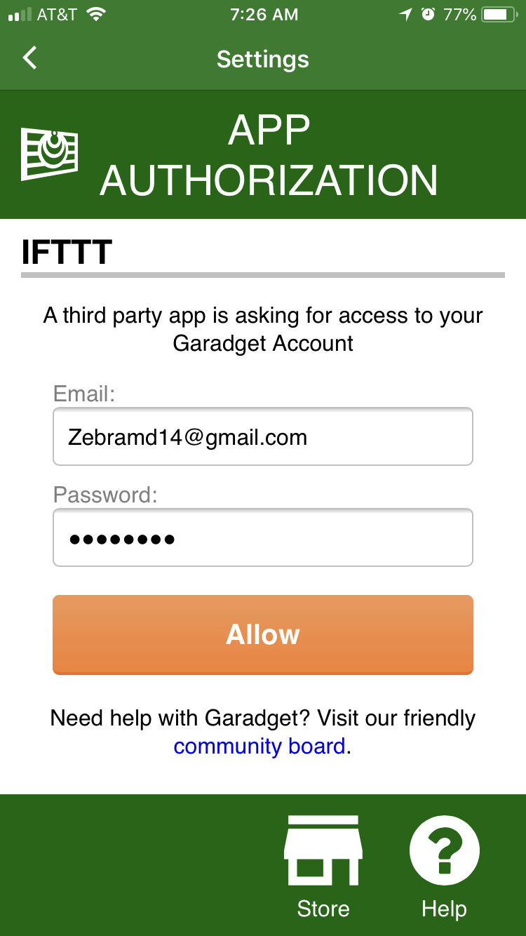 IFTTT Errors - SmartHome Integration - Garadget Community